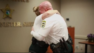 Watch these deputies surprise their dads in heartwarming Father's Day tribute