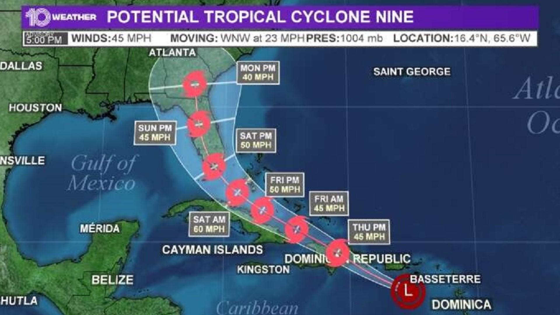 Tracking Potential Tropical Cyclone Nine Wtsp Com