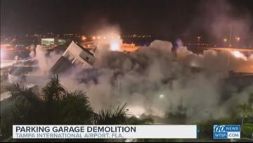 WATCH: Tampa International Airport demolishes old rental car garage