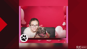 Photo gallery reveals pup's new 'furever' family during Valentine's event