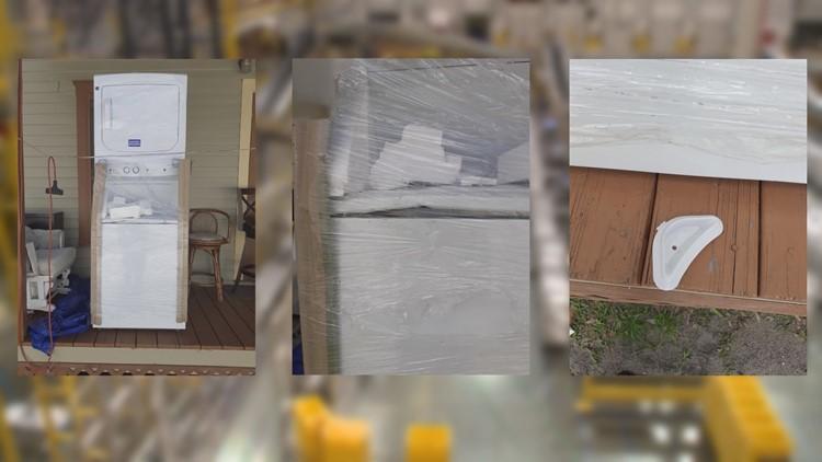 TTT washer dryer damage amazon
