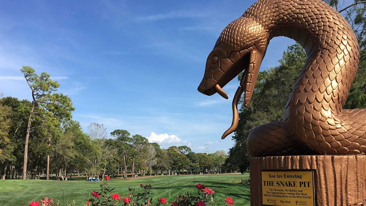 Copperhead snake pit statue