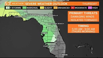 Strong, possibly severe storms on the way by your Thursday morning commute