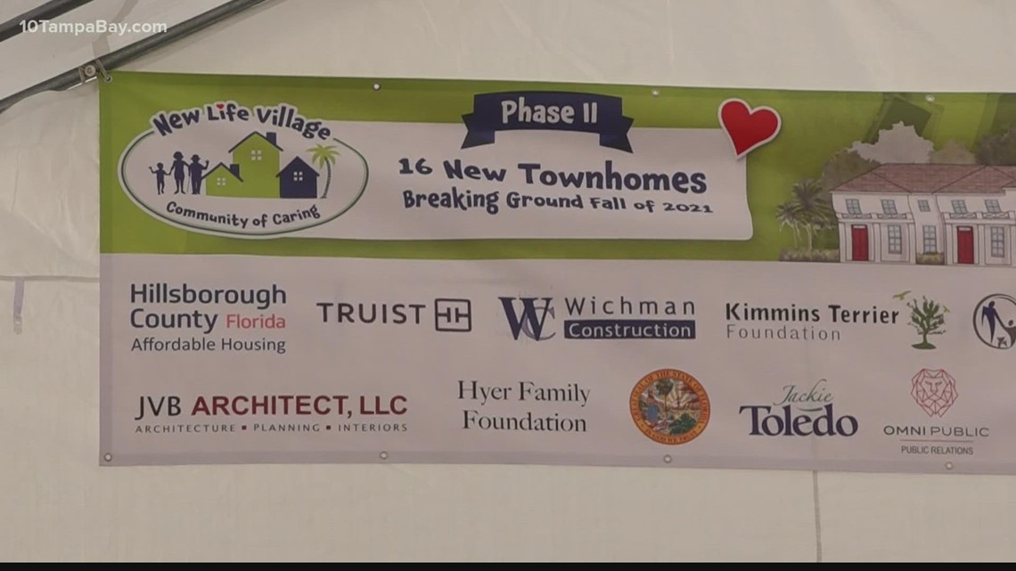 Affordable townhomes providing support for foster children began construction