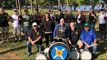 Largo bagpipe band celebrates 50 years of music