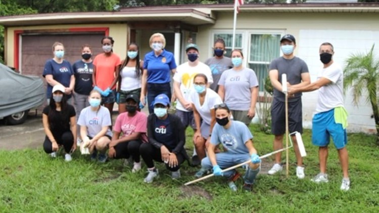 Volunteers give a fresh coat of paint to dozens of homes across Hillsborough County