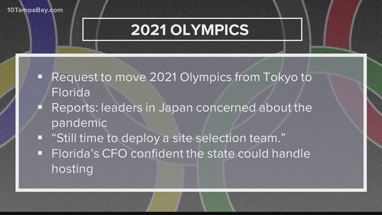 State official pushes for Tokyo Olympics to be relocated to Florida