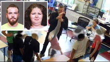 Cops: 2 daycare employees arrested after video shows little girl dangled upside down, bullied