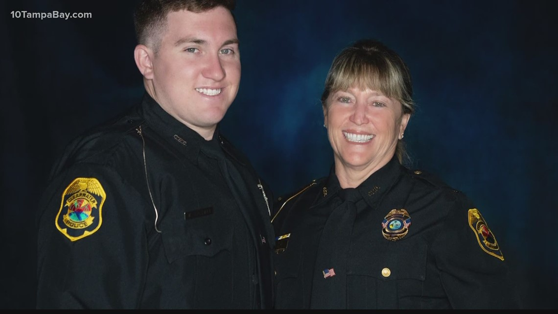 Son follows in his mother's footsteps to become Clearwater police officer