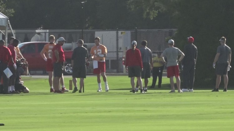 'We've got to get in shape:' Bucs feeling the heat on day 2 of training camp