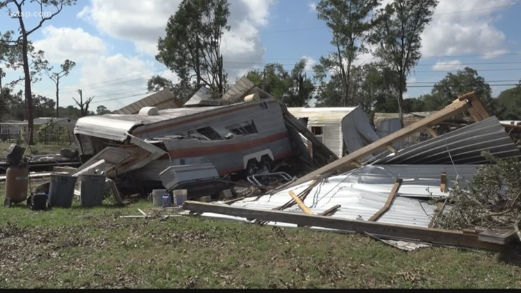 People continue to recover from tornado damage in Kathleen, Fla.