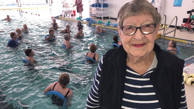 Lakeland swimmer, 98, inspires peers with water aerobics dedication