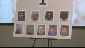 10 charged in human trafficking bust out of Hernando County