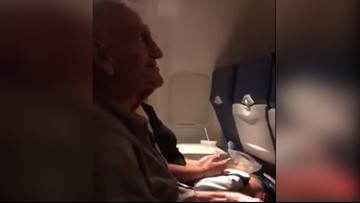 101-year-old veteran gets in-flight birthday party