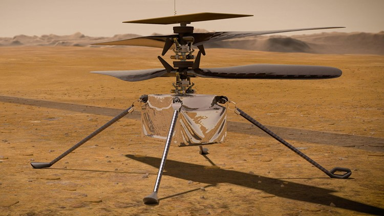 NASA sets Ingenuity helicopter's inaugural flight on Mars for Monday