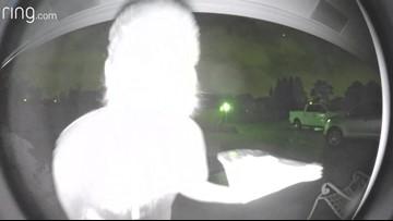 Florida man licks doorbell