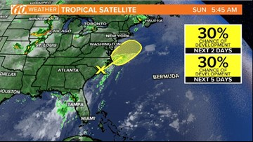 The National Hurricane Center is watching this, but tropical development is not expected