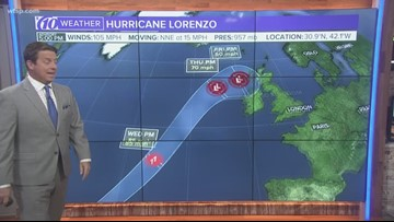 Tracking the Tropics: Hurricane Lorenzo now a category 2 storm