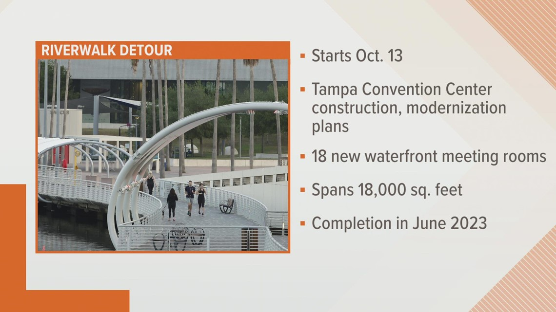 Here's why a portion of the Tampa Riverwalk is closing for a while