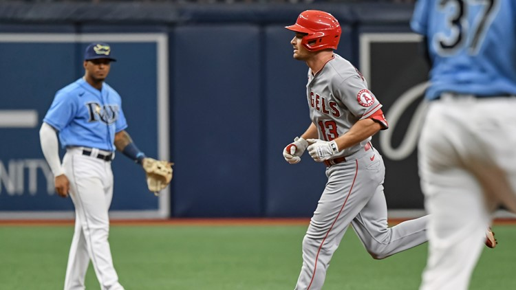 Rays have four-game win streak snapped; fall to Angels 6-4