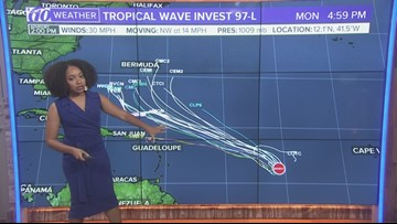 Tropical wave Invest 97-L not expected to impact Florida