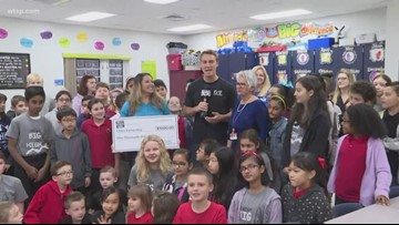 Duke Energy Florida presents check to Chiles Elementary