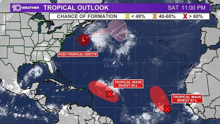 Tropical Depression 16 forms near Leeward Islands