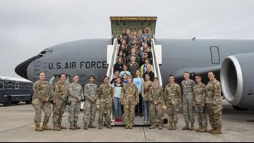 KC-135 carrying middle school girls on STEM flight makes emergency landing at MacDill