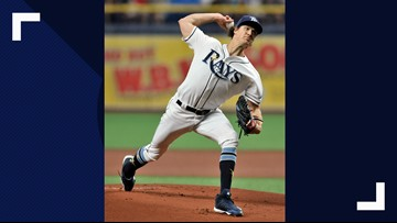 Rays' Glasnow out 4-6 weeks with mild right forearm strain