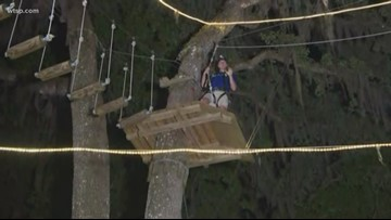 TreeHoppers Zip Line Ropes Course is a great workout
