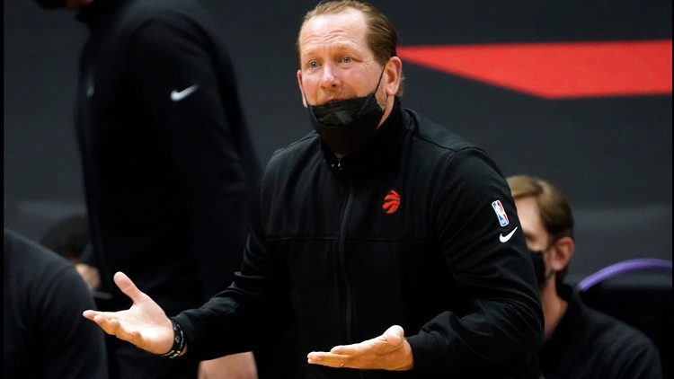 Raptors head coach fined $50,000 for mask-throwing, profanity