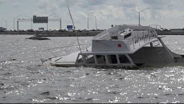 That half-sunken boat off the Howard Frankland Bridge soon might finally be hauled away
