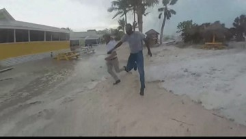 Mini tsunami washes ashore on Captiva Island