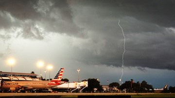 Lightning, storms causing delays, cancellations at Tampa International Airport
