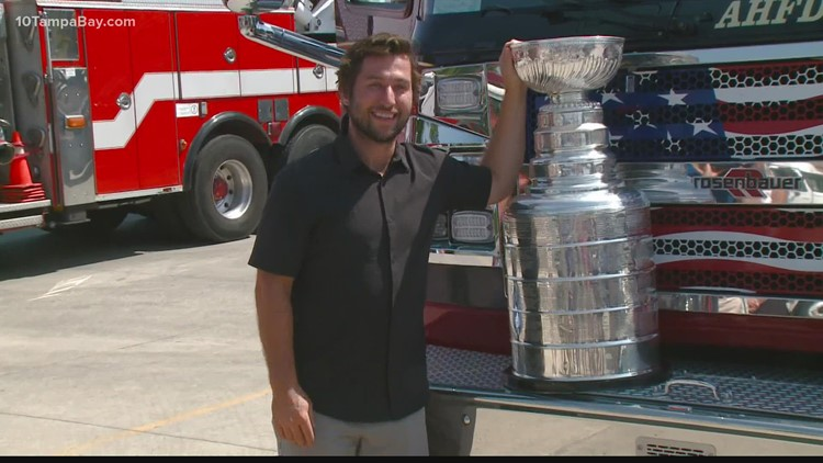 Former Lightning player Tyler Johnson brought Stanley Cup trophy to hometown