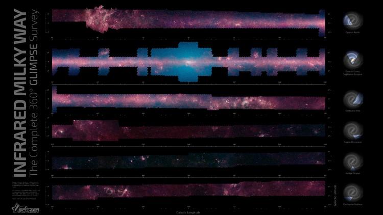 spitzer nasa telescope map of milky way galaxy