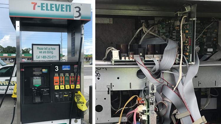 Bluetooth skimmer found on Seminole gas pump