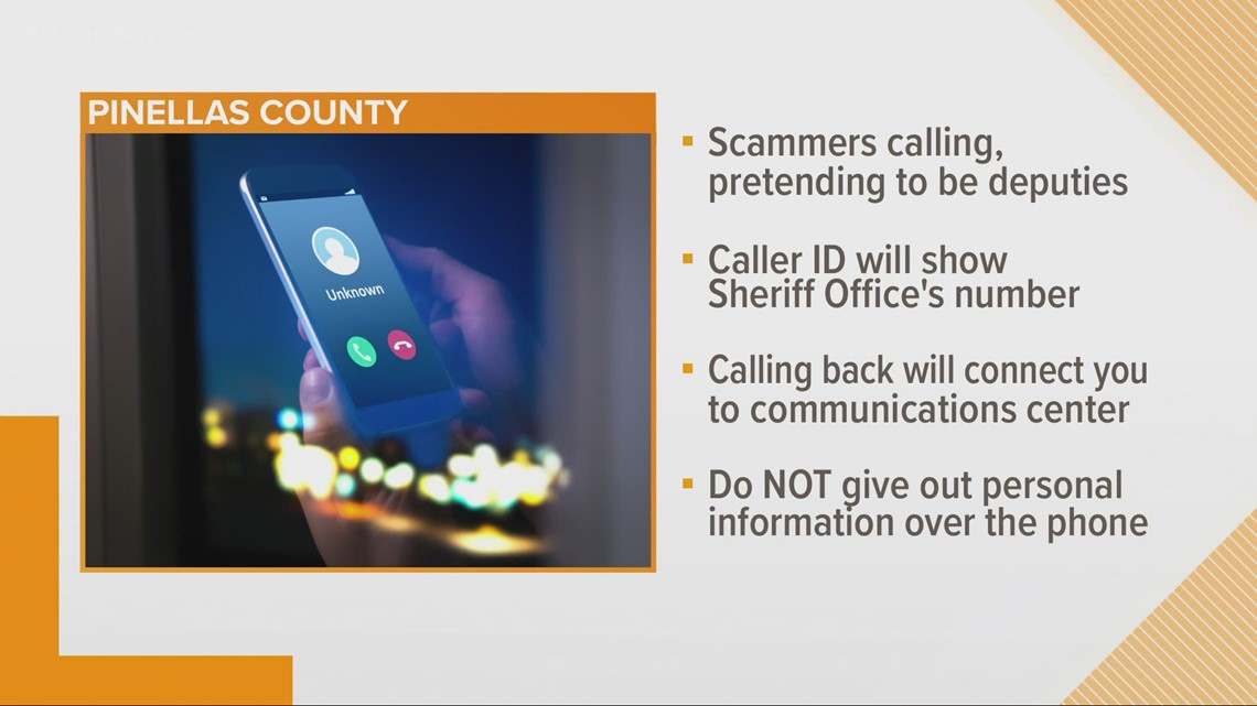 Get a call from a Pinellas deputy sheriff? That's a scam