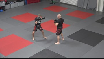 With his father by his side, teen's kickboxing hobby could take him to the Olympics