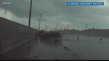 Wow Moments: Florida trooper leaps to escape death