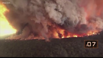 Weather conditions not helping effort to put out Australian bushfires