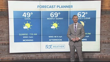 10weather forecast: Christmas Eve morning, Dec. 24, 2018