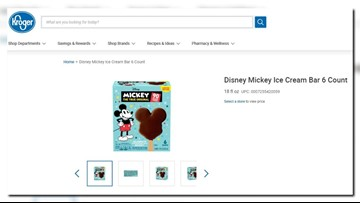 Mickey Mouse ice cream bars are coming to grocery stores next month