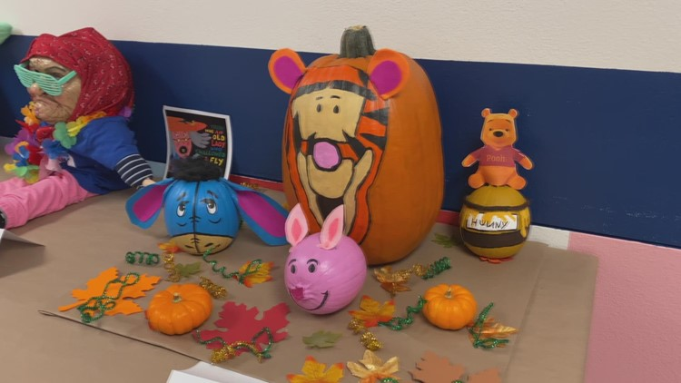Tampa preschool turns pumpkins into works of art to support teachers