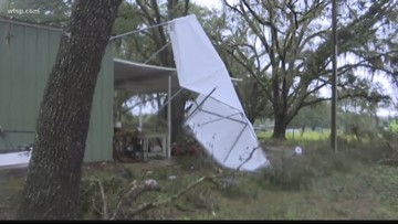 Three tornadoes, strong storms cause damage in Tampa Bay