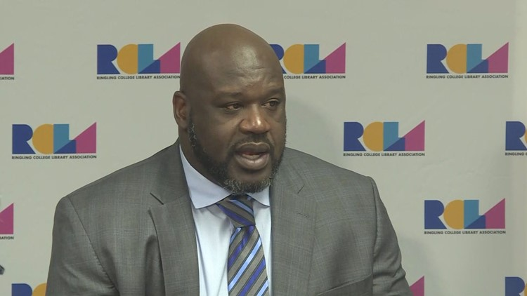 Shaquille O'Neal addressed Sarasota college as one of five speakers