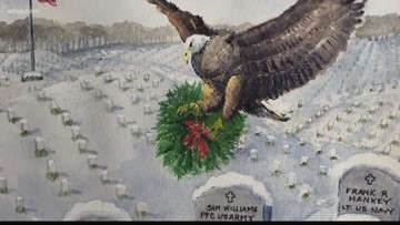 Gold Star father's paintings honor fallen son