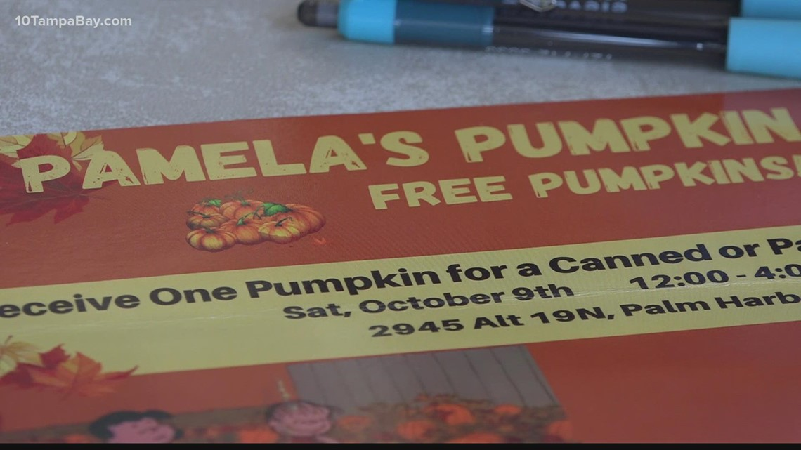 Pumpkin patch trades pumpkins for canned goods to support local food bank