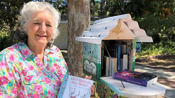 Driveway book box offers neighborhood a reading hotspot