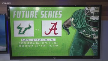 USF to face off with Alabama in 3-game series